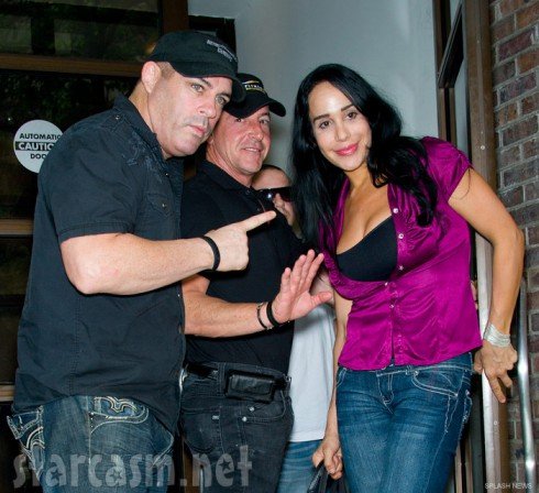 Michael Lohan and Octomom Nadya Suleman togeth outside Fox 29 studios in Philadelphia