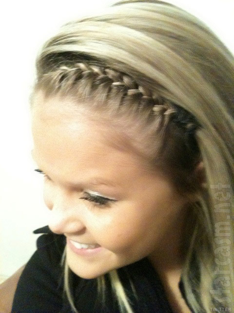 Corey Simms girlfriend Miranda Patterson with braided hair