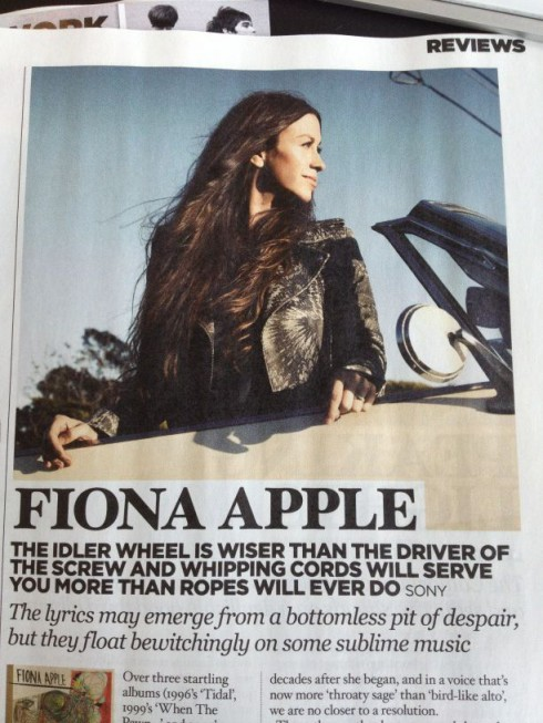 NME magazine mixes up Alanis Morissette and Fiona Apple on Idle Wheel review