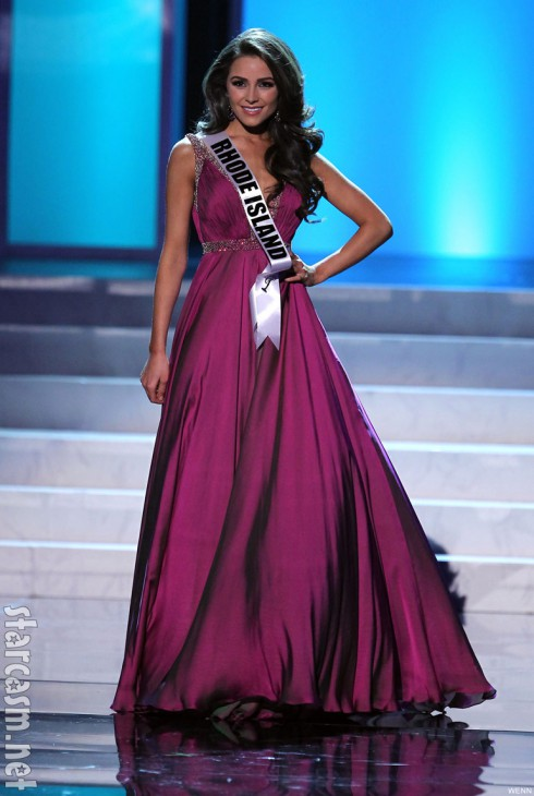 2012 Miss USA Olivia Culpo evening gown