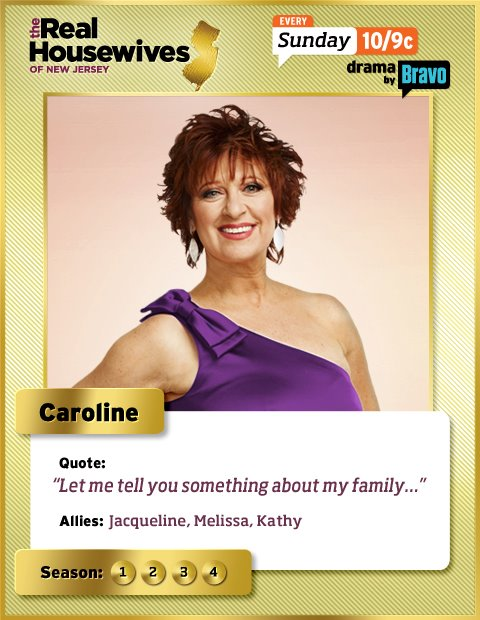Caroline Manzo Real Housewives of New Jersey trading card