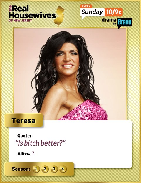 Teresa Giudice Real Housewives of New Jersey trading card