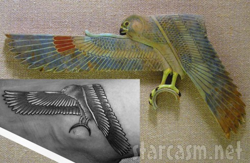 Was Rihanna's falcon ankle tattoo inspired by a 2300 year old Egyptian artifact