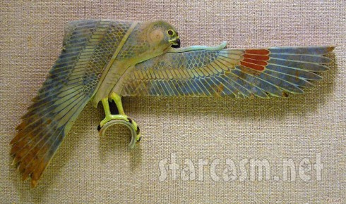 Rihanna falcon tattoo original Egyptian artifact at the Met Museum