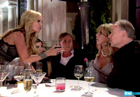 Tamra Barney and Brooks Ayers fight over her evil eye during the Real Houseiwives of Orange County Season 7 finale