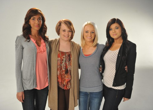 All the Teen Moms together Farrah Catelynn Maci Amber