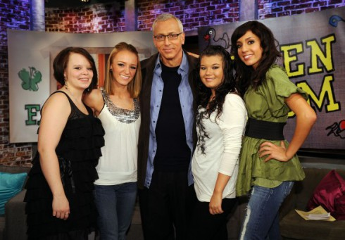 Original Teen Moms with Dr. Drew after the Reunion Special