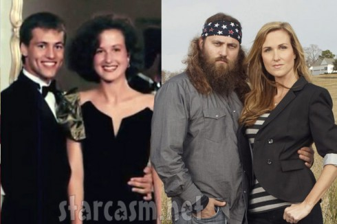 Duck Dynasty's Willie Robertson and wife Korie Robertson then and now photos