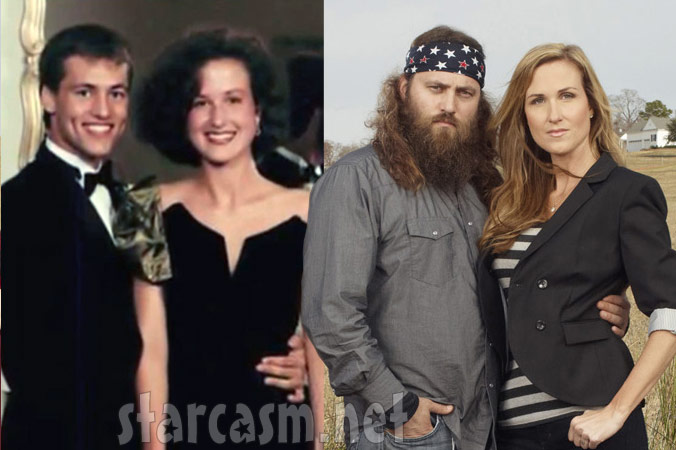 Willie Robertson and wife Korie Robertson then and now photos