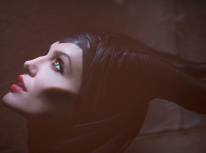 Angelina Jolie as Maleficent Sleeping Beauty villainess