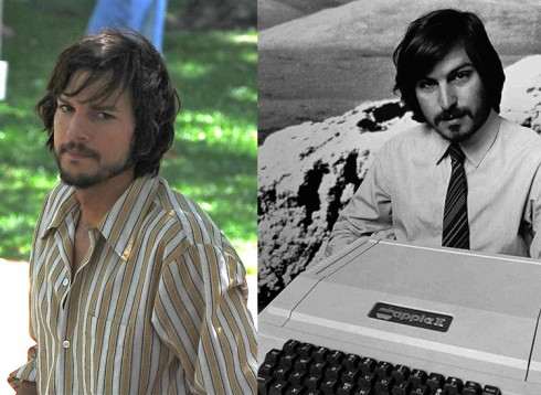 Ashton Kutcher and Steve Jobs look alike