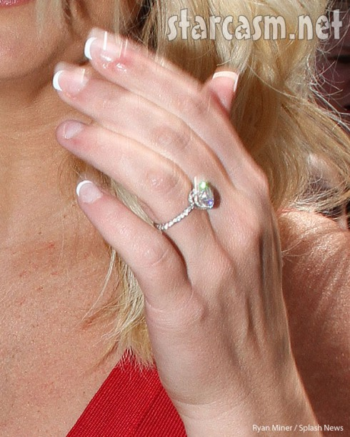 Britney Spears engagement ring close up