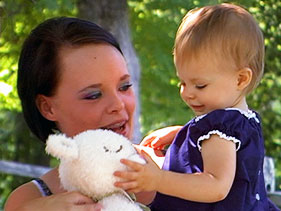 Photo of Teen Mom Catelynn Lowell and her daughter Carly together