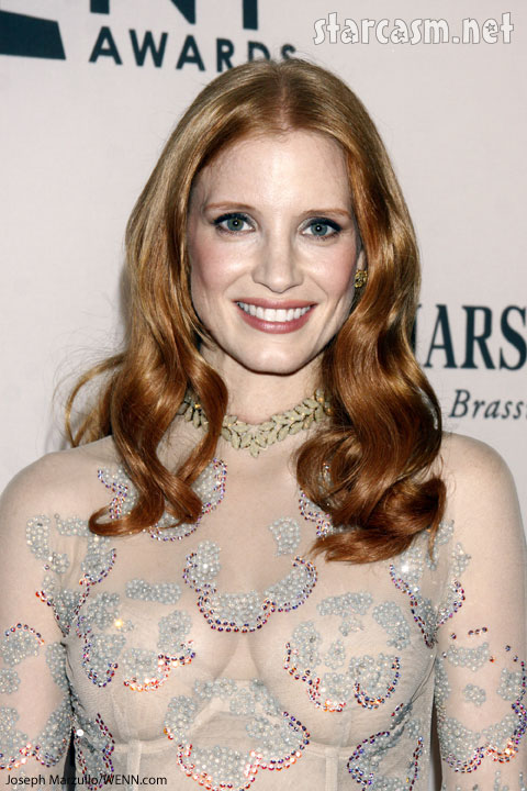 Jessica Chastain sheer dress