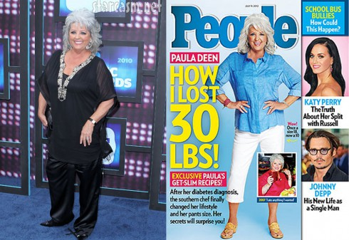 Paula deen 30 pound weight loss