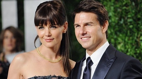 Katie Holmes and Tom Cruise attend Vanity Fair Oscar Party