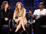 The judges of American Idol: Steven Tyler, Jennifer Lopez, and Randy Jackson
