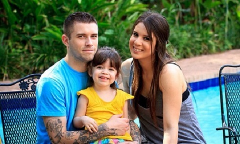 Ashley Salazar with Justin Lane and Callie