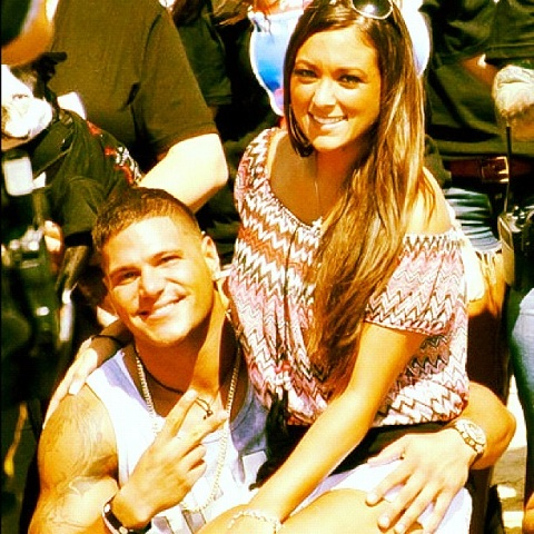 Sammi Giancola and Ronnie Magro