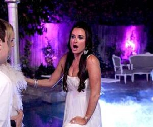 Kyle Richards at her White Party