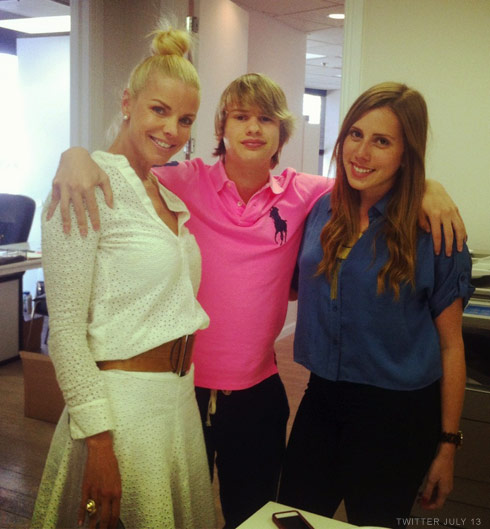 Real Housewives of Miami's Alexia Achevarria and her son Frankie Rosello in July 2012