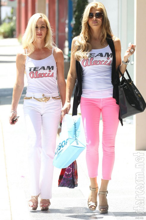 Alexis Bellino and a friend wearing Team Alexis tanktop shirts