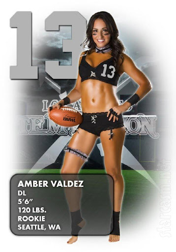 Beverly Hills Nannies Amber Valdez Lingerie Football League