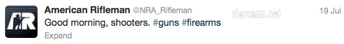 "American Rifleman ""Good morning, shooters"" tweet"