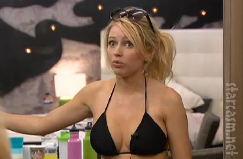 Big Brother's Britney haynes makes a classic face in a cute bikin