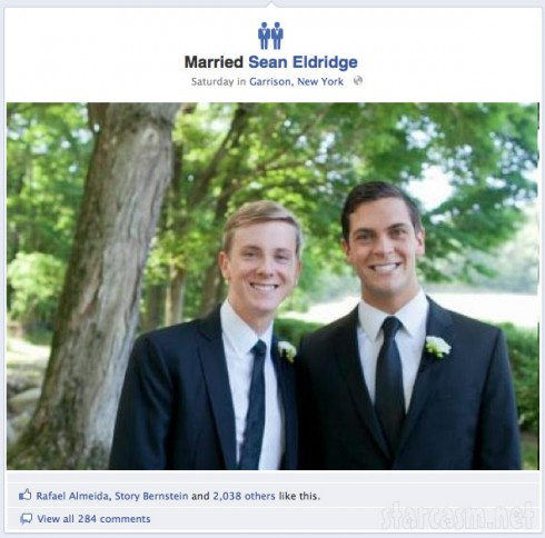 Chris Hughes is one of the first to use Facebook's new gay marriage timeline icons