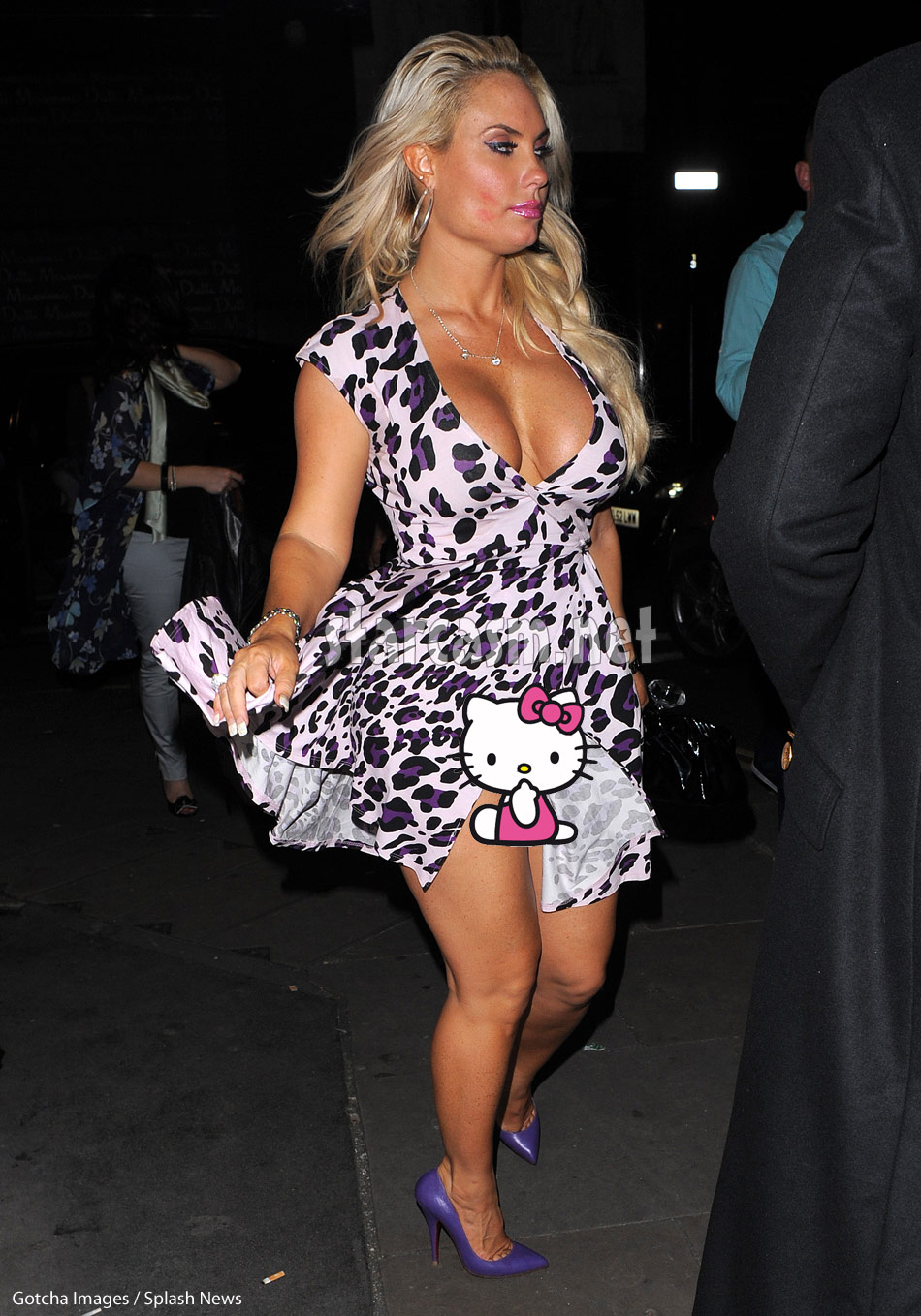 Coco Austin exposed without panties in London