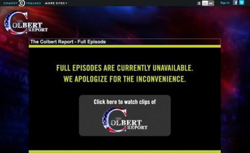 Viacom removes streaming full episodes of The Colbert Report over Direct TV dispute