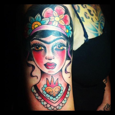 American Pickers Danielle Colby Cushman's Frida Kahlo arm tattoo
