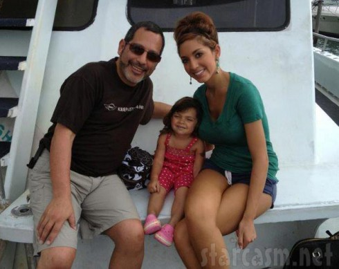 Farrah Abraham's dad Michael Abraham with Sophia in Florida