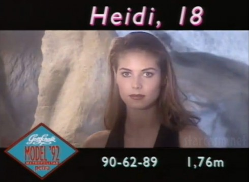 18 year old Heidi Klum modeling on German television show
