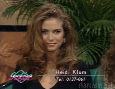 Heidi Klum at 18 on GottSchalk German television show