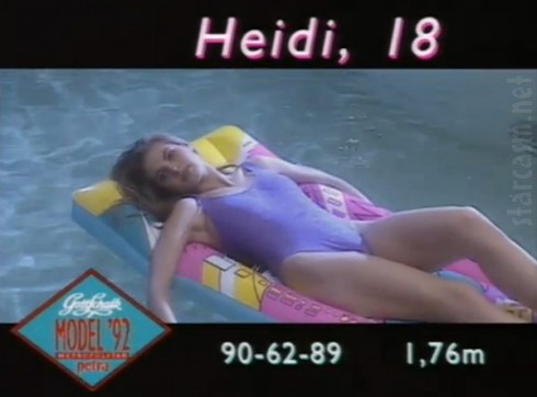 Heidi Klum at 18 on German television