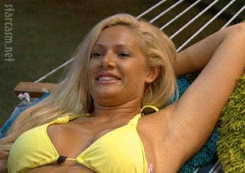 Janelle seems happy back in the Big Brother 14 house