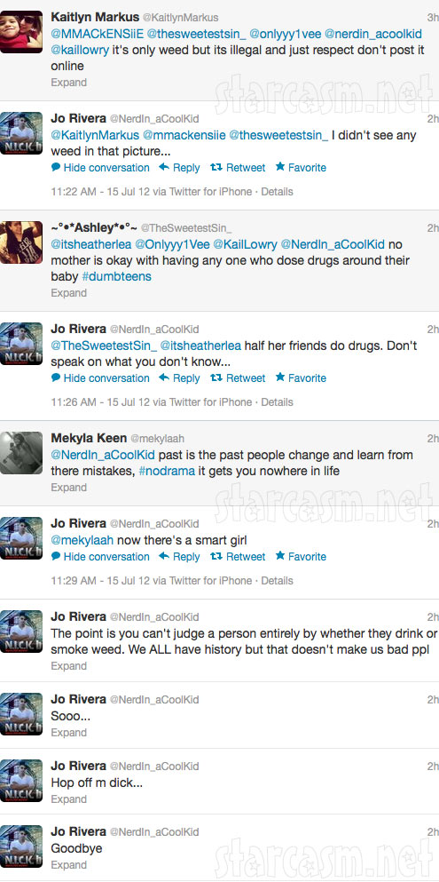 Jo Lowry responds to Kailyn Lowry tweets about his girlfrien smoking a bong photo