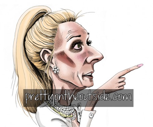 Kim Richards Pretty on the Outside drawing by David Gilmore