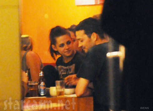 Kristen Stewart and Rupert Sanders having dinner together