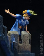 Lady Gaga wears a blue costume on the Born This Way Ball Tour 2012