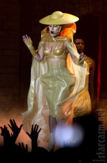 Lady Gaga Born This Way Ball gold costume with hat