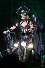 Lady Gaga Born This Way Ball costume motorcycle