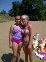 Leah Messer bikini picture at the lake 2012