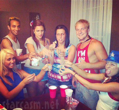 Maci Bookout appears to be drinking tequila at the Bookout cookout 4th of July party