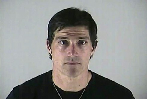 Matthew Fox mugshot photo from 2012 DUI arrest