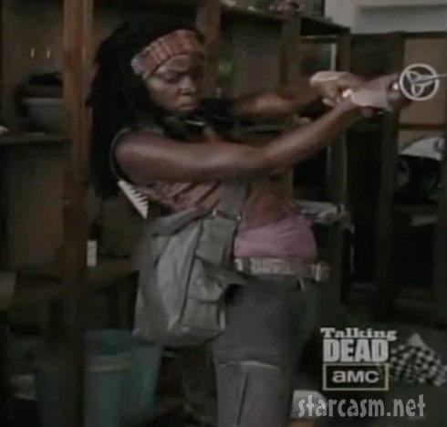 The Walking Dead Michonne from Season 3 preview video on Talking Dead