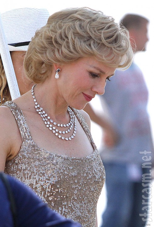Naomi Watts Princess Diana on the set of Caught In Flight
