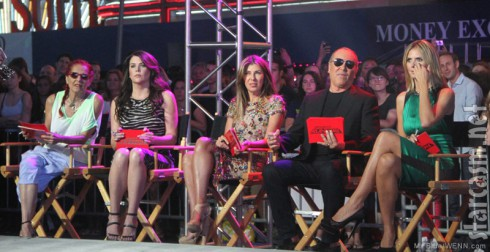 Project Runway Season 10 judges Patricia Field, Lauren Graham,Nina Garcia, Michael Kors, Heidi Klum